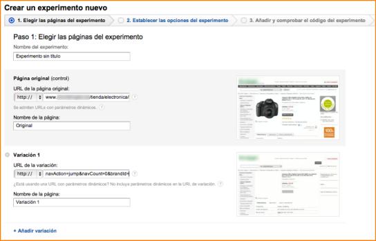 Como Lanzar Experimentos con Google Analytics (2)
