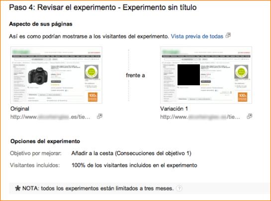 Lanzar Experimentos con Google Analytics (5)