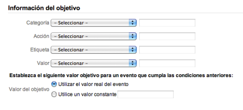 Google-Analytics: Objetivo de Evento