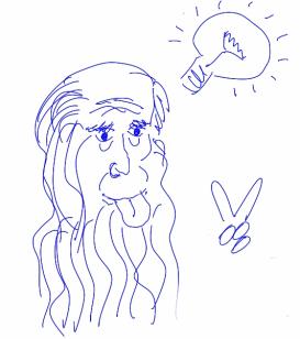 Leonardo Da Vinci sacando la lengua